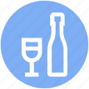 beer, beverage, bottle and glass, christmas, drinks, easter icon