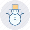 christmas, decoration, easter, hat, snow, snowman, winter icon