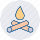 burn, camp fire, camping, christmas, fire, survival, wood icon