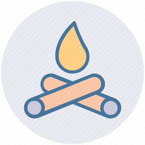 Burn, camp fire, camping, christmas, fire, survival, wood icon - Download on Iconfinder