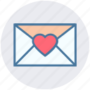 christmas, envelope, heart, letter, love icon