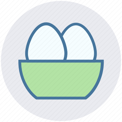 bowl, christmas, easter, egg, holiday icon