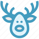alaska, christmas, deer, deer face, face icon
