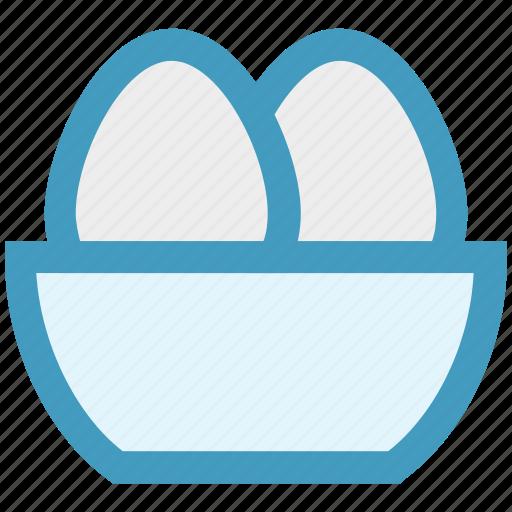 bowl, christmas, easter, egg, holiday icon