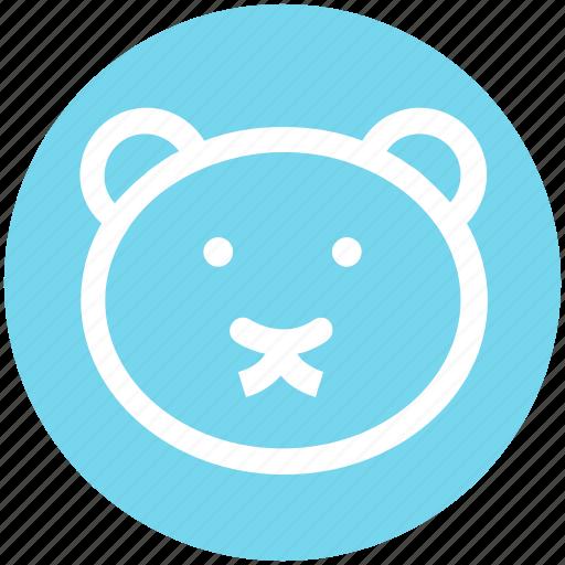 bear, christmas, face, soft toy, teddy, teddy bear face, toy icon