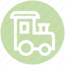 christmas, party, toy, train, transportation, vacation, winter icon