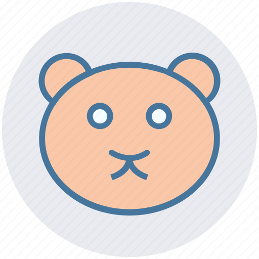 Bear, christmas, face, soft toy, teddy, teddy bear face, toy icon - Download on Iconfinder