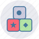baby, blocks, box, christmas, game, stacking, toy icon