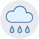 christmas, cloud, forecast, rain, rainy day, spring, weather icon