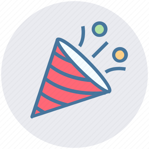 Celebration, christmas, decoration, elements, party, popper icon - Download on Iconfinder