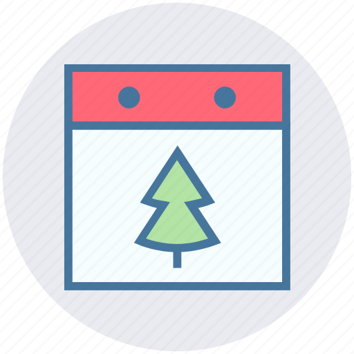 calendar, christmas, christmas tree, date, day, event, tree icon