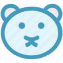 bear, christmas, face, soft toy, teddy, teddy bear face, toy icon