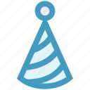 birthday cap, celebration, christmas, cone hat, party, party cap icon