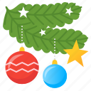 branch, christmas, christmas toys, christmas tree toys, decoration, decorations icon