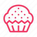 cake, dessert, muffin