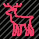 christmas, deer, elk, hoof icon