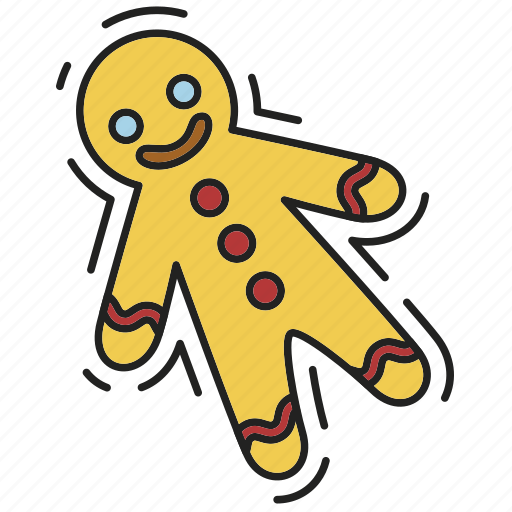christmas, gingerbread man, sweet, xmas icon