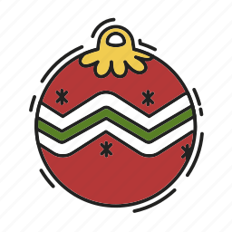 christmas, christmas ball, decoration, xmas icon