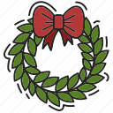 bow, christmas, decoration, xmas icon