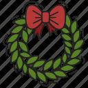 bow, christmas, decoration, xmas