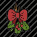 bow, christmas, decoration, kissing bough, xmas