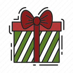 bow, christmas, gift, present, xmas icon