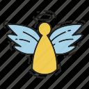angel, christmas, wings, xmas