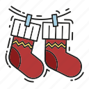 christmas, christmas sock, gift, gifts, presents, sock, xmas icon