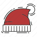 christmas, decoration, hat, santa, santa hat, xmas icon