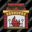 celebration, christmas, decoration, fire, fireplace, xmas icon