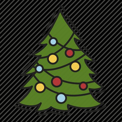 celebration, christmas, christmas tree, decoration, xmas icon