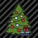 celebration, christmas, christmas tree, gift, present, xmas