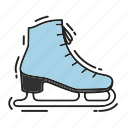 christmas, gift, ice, present, skates, winter, xmas icon