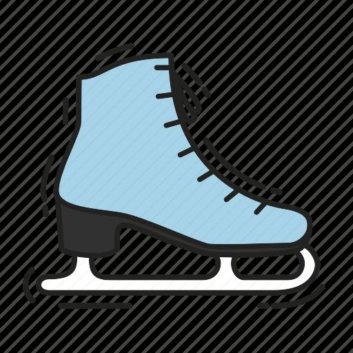 christmas, gift, ice, present, skates, winter, xmas icon