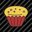 cake, christmas, cupcake, xmas icon
