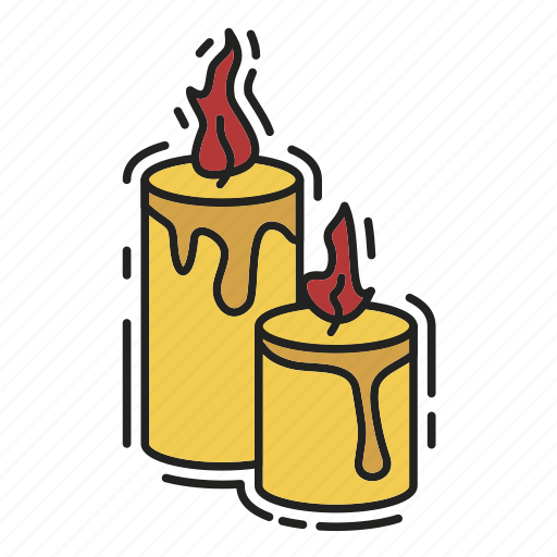 candles, christmas, decoration, fire, xmas icon
