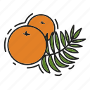 christmas, christmas tree, oranges, xmas icon