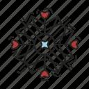 christmas, snowfall, snowflake, xmas icon
