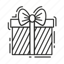 bow, box, christmas, gift, present, xmas icon