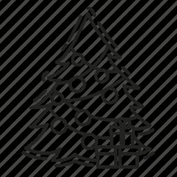 christmas, christmas tree, gifts, present, xmas icon