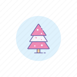 christmas, cold, holiday, snow, tree, winter icon