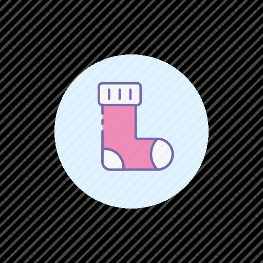 christmas, cold, holiday, sock, socks, winter icon