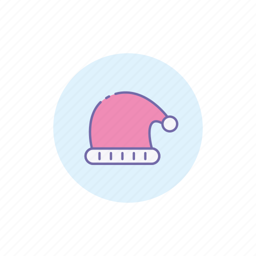 christmas, cold, hat, holiday, santa, stocking cap, winter icon