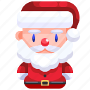 avatar, christmas, claus, father, santa, user, xmas icon