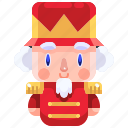 adornment, avatar, character, christmas, nutcracker, soldier, toy icon