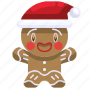bakery, christmas, cookie, dessert, gingerbread, man, sweet icon