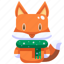 animal, christmas, fox, mammal, wild, wildlife, zoo icon
