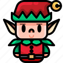 avatar, character, christmas, costume, elf, fantasy, folklore icon