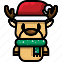 deer, mammal, reindeer, christmas, animal, winter icon