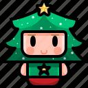 avatar, boy, christmas, costume, tree, xmas